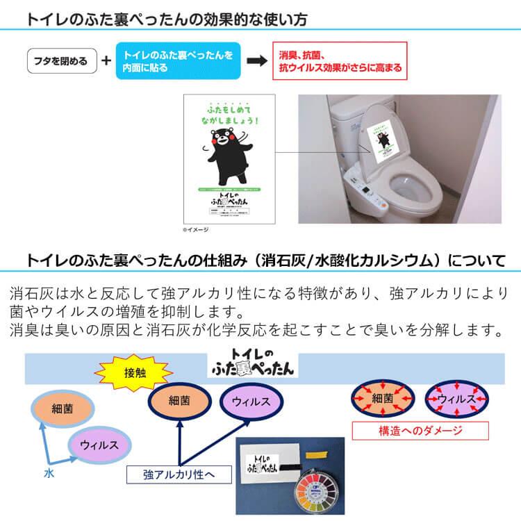 トイレのふたに貼るだけの除菌シート!トイレのフタ裏ぺったんの効果的な使い方